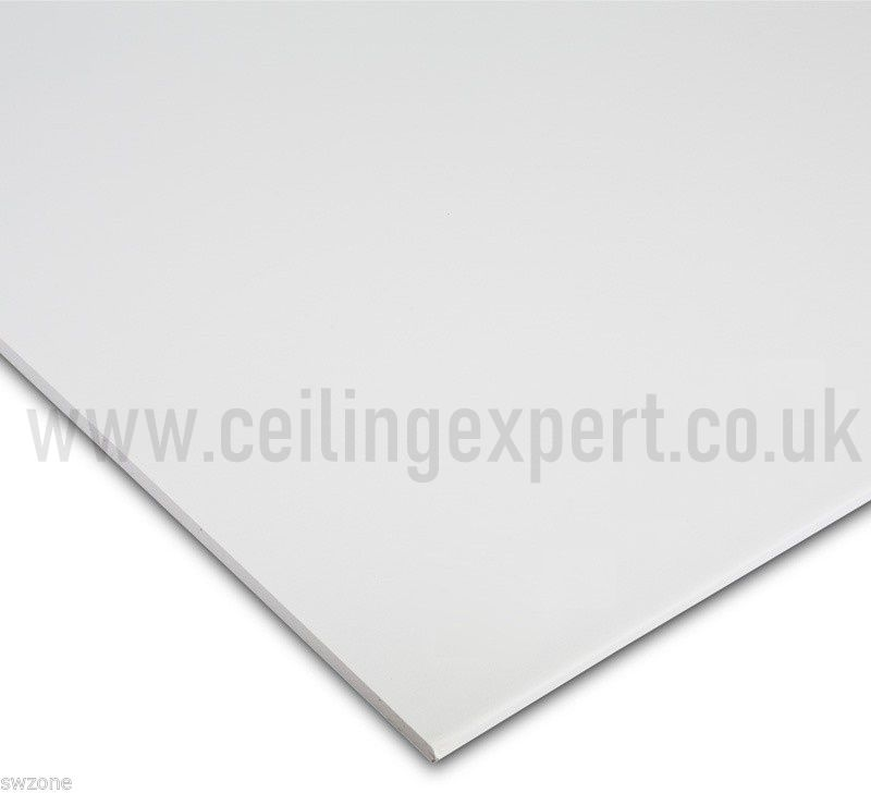 White Suspended Ceiling Tiles (Waterproof) Wipeable and Easyclean.