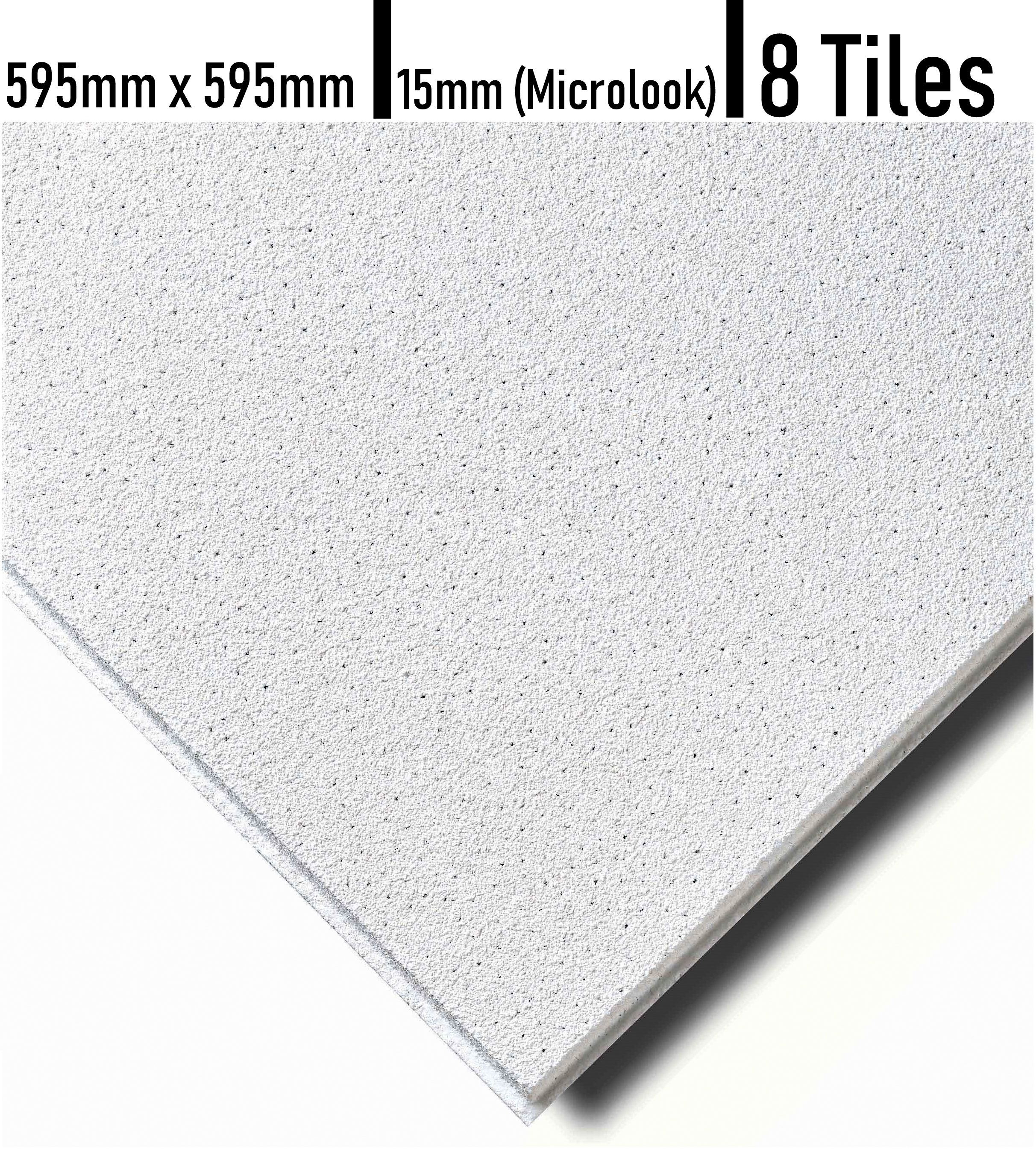Microlook Sandtone Surf Tegular 595 x 595 Suspended Ceiling Tiles