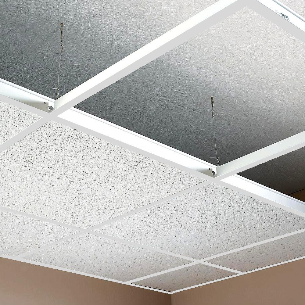 No Tiles 15m2 White Suspended Ceiling Grid System 600x600 x 24mm Complete Grid